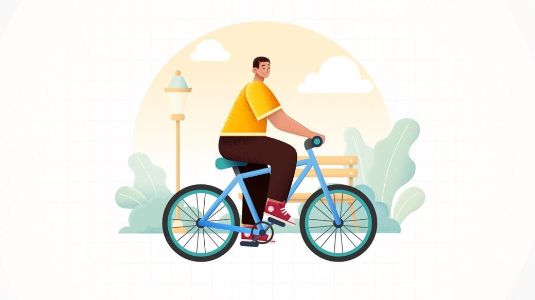Character illustration cycling