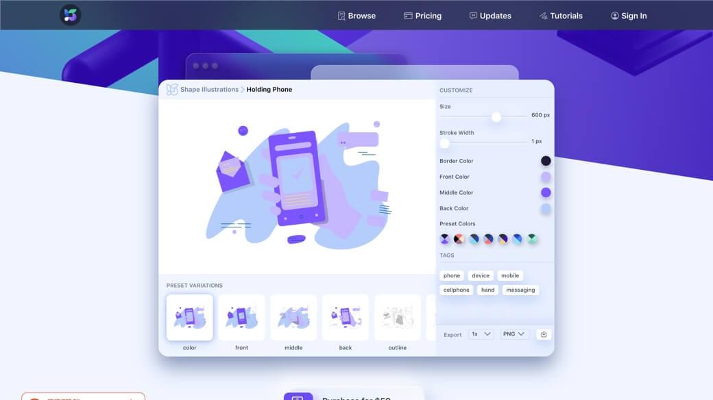 Shape icons illustrations