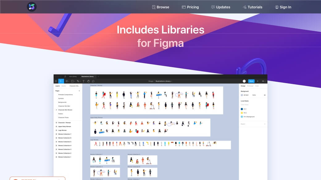 Illustrations Figma library