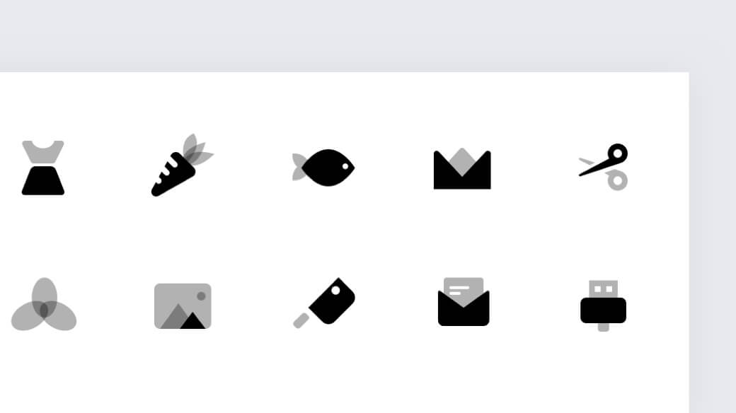 Duotone icons for Sketch library