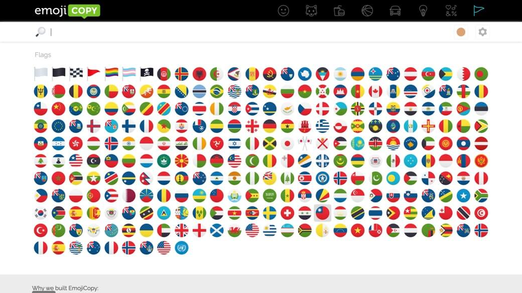 Emojicopy flags