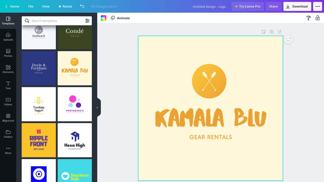 Logo maker tool