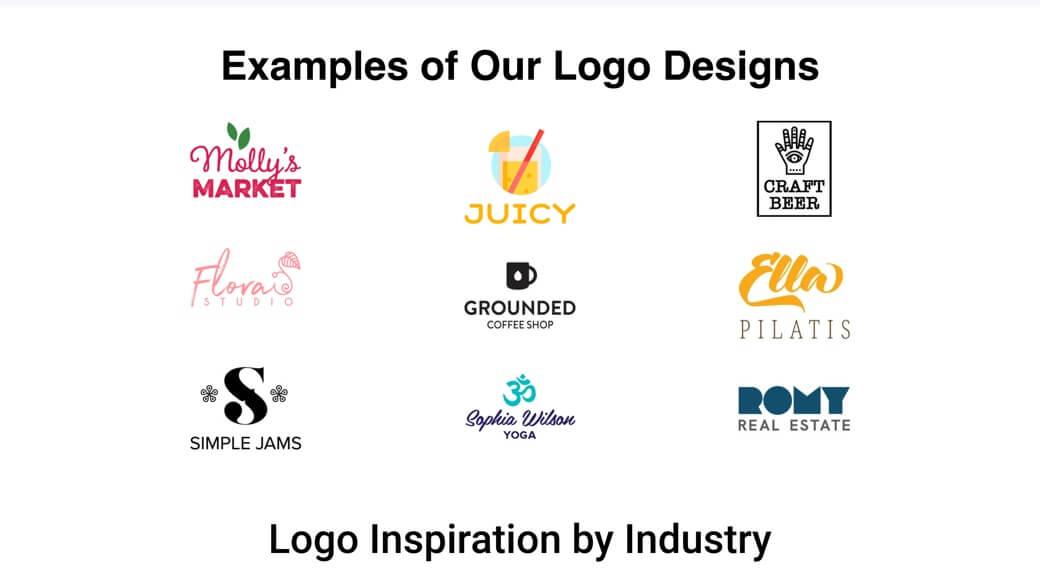 Tailor Brands logo samples