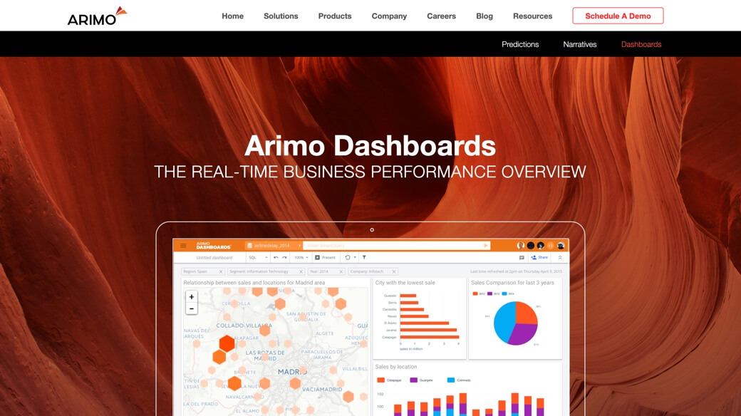 Arimo's dashboards