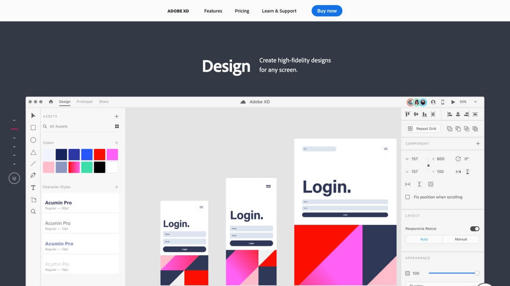 Design with Adobe XD