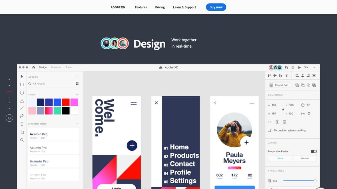 UI design with Adobe XD