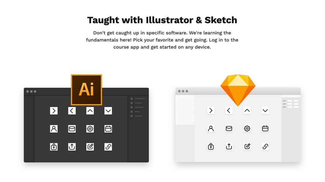 Learn icon design with Illustrator and Sketch