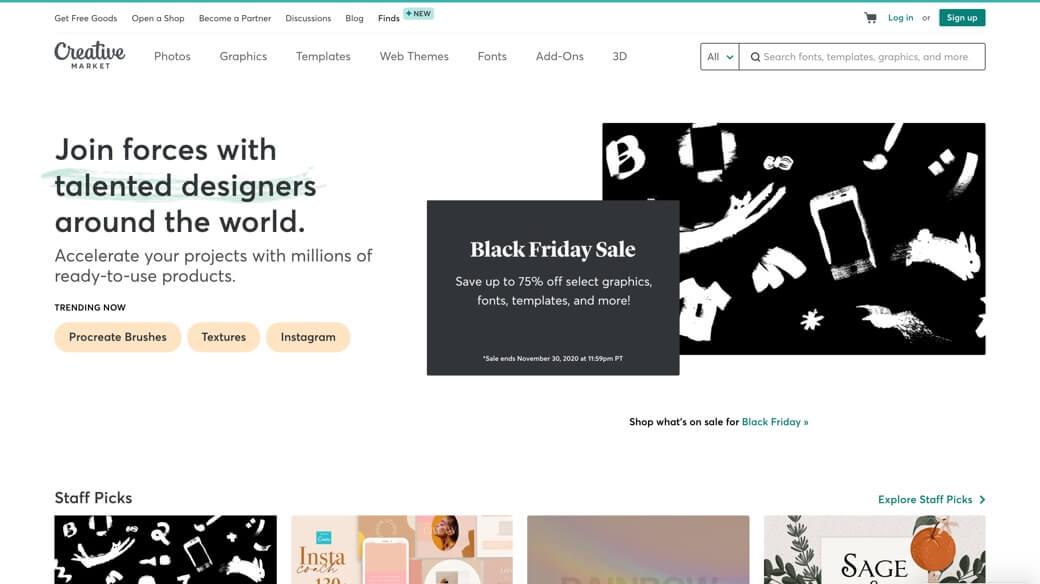 Creative Market website