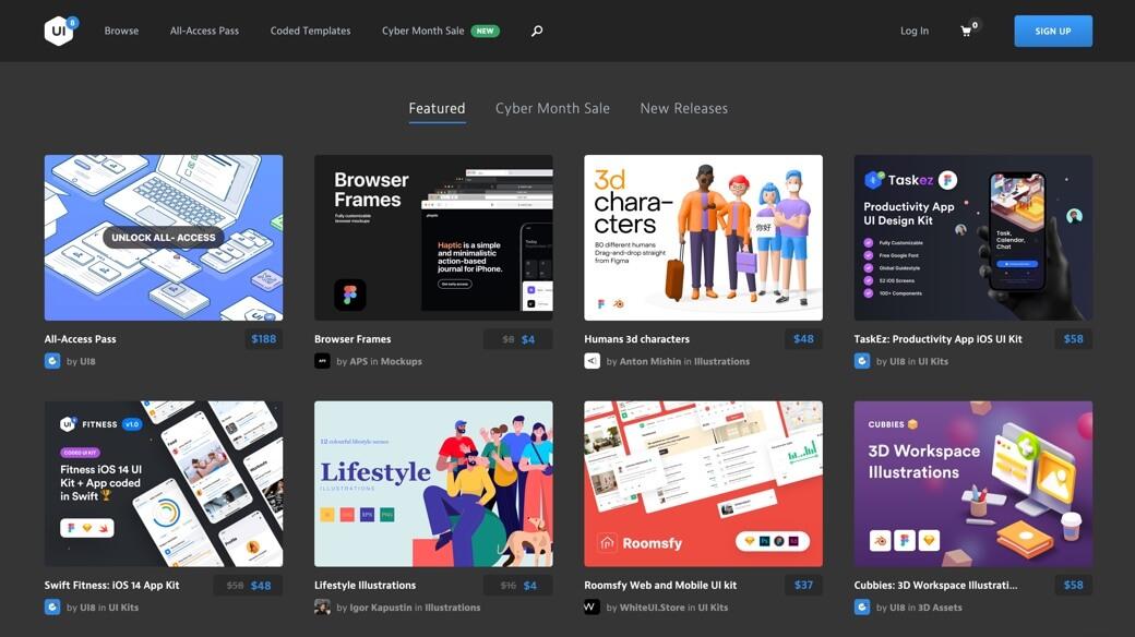 UI8 digital marketplace