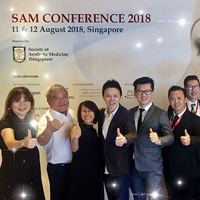It's a wrap! Society of Aesthetic Medicine (SAM) Conference 2018 was a great success. Dr Ivan Puah was the chairperson for one of the segments. Picture taken with the rest of the SAM executive committee members and presenters.