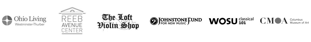 VIVO partners: Ohio Living Westminster-Thurber, Reeb Avenue Center, The Loft Violin Shop, Johnstone Fund for New Music, WOSU classical 101, Columbus Museum of Art