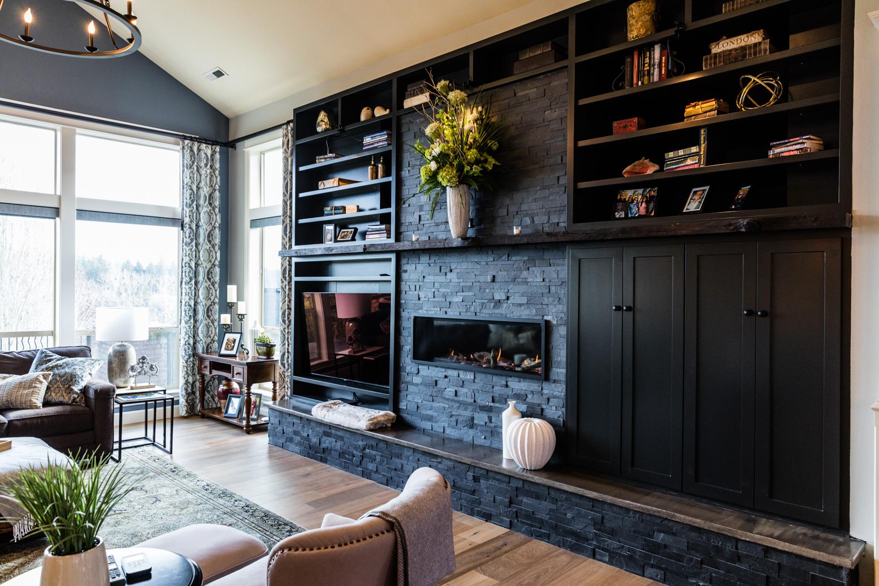 croft residence living room after