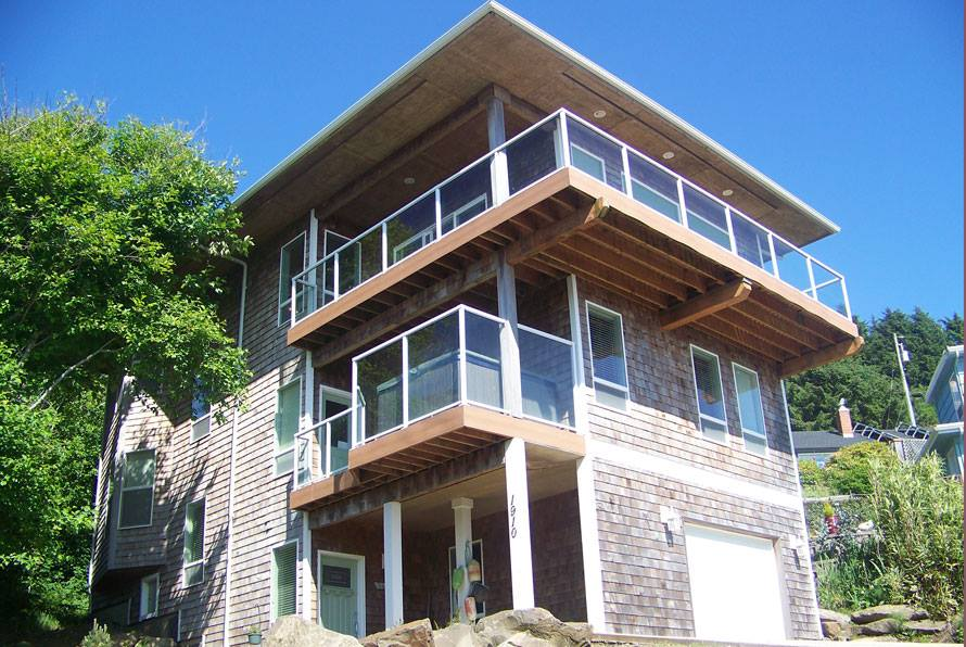 Costal Beach House Side View
