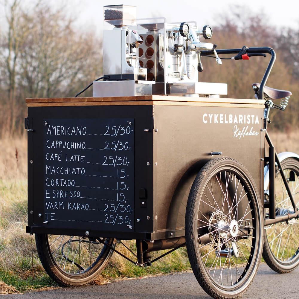 kaffecykel til butiksåbning