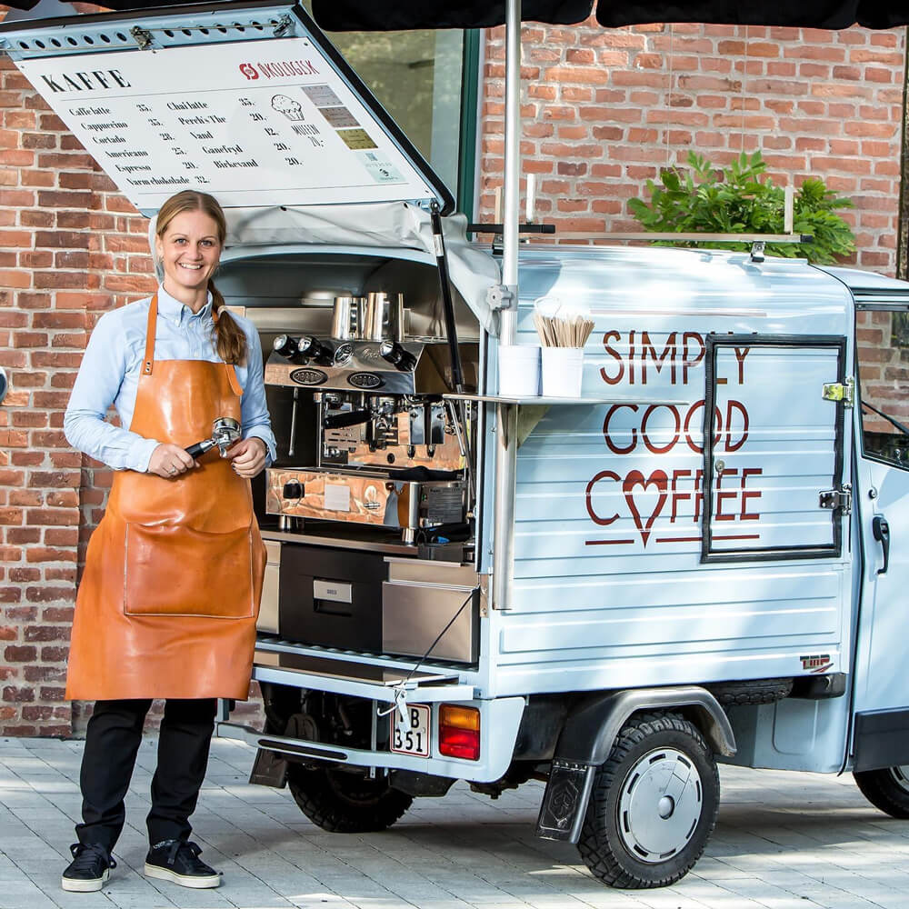 kaffeknallert til butiksåbning