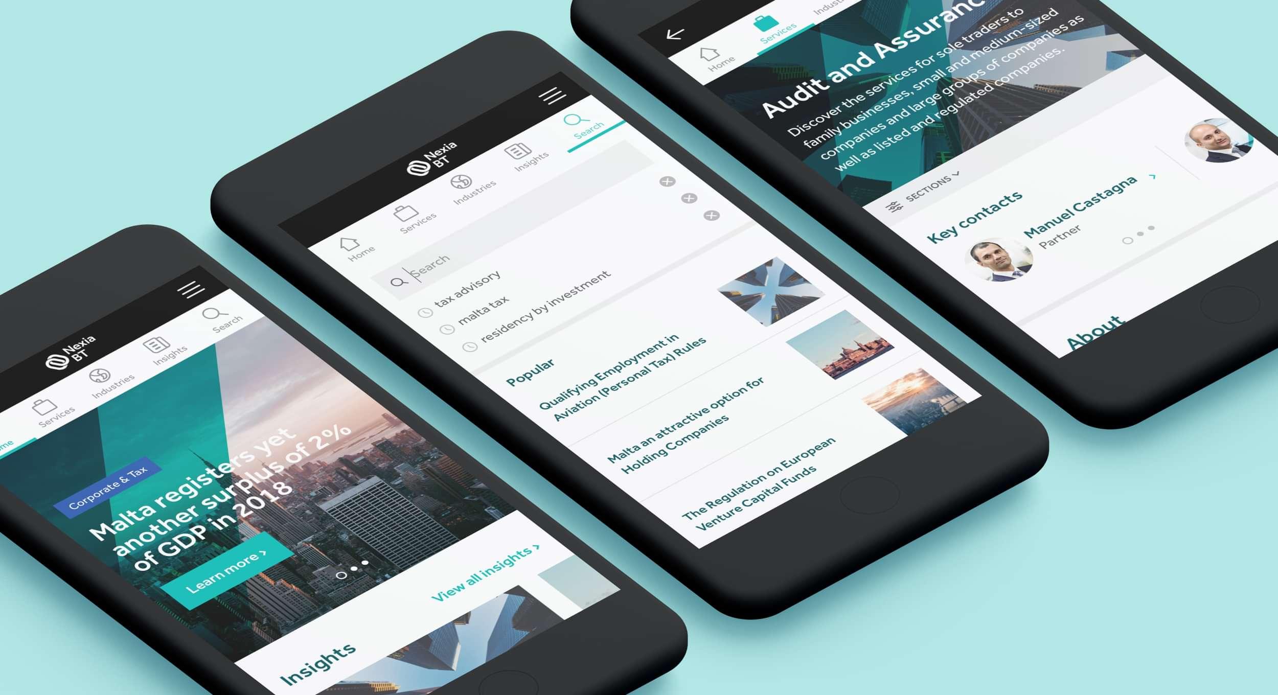 Nexia BT Website Redesign