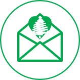 Envelope with the park logo