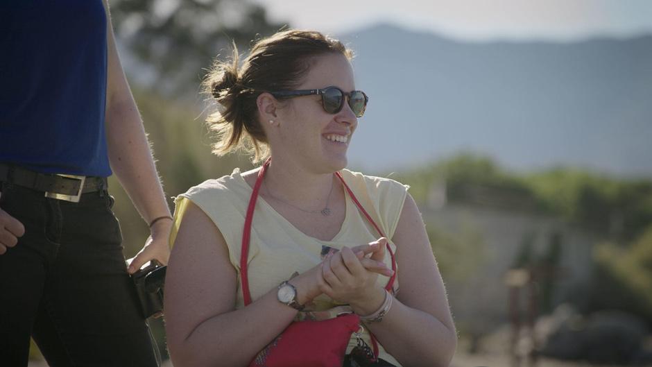 Céline, pendant le séjour-aventure sportif en Corse