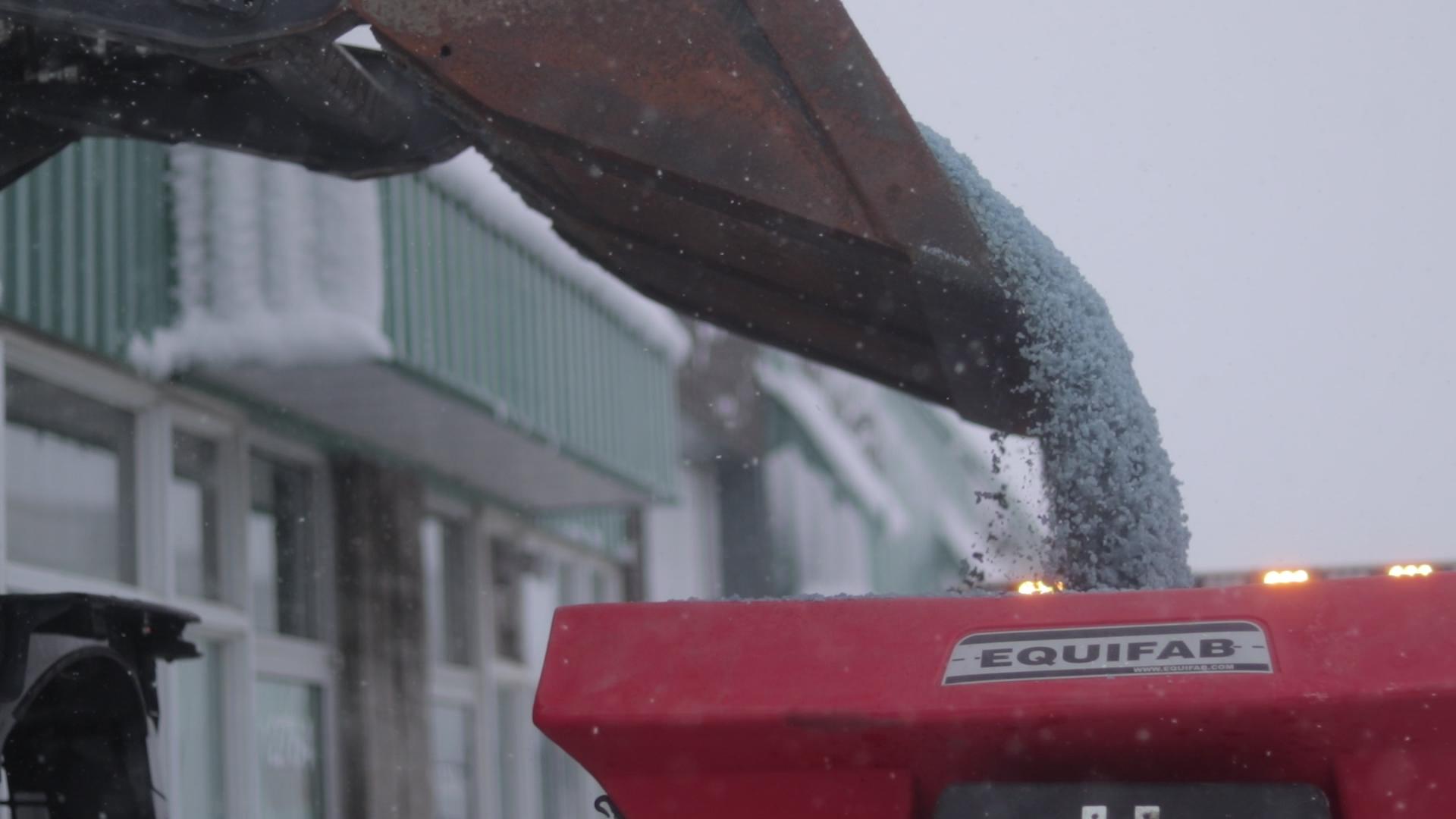 Épandage abrasif machine Montréal
