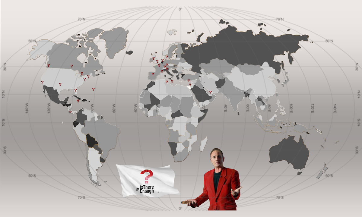 World Map for #IsThereEnough