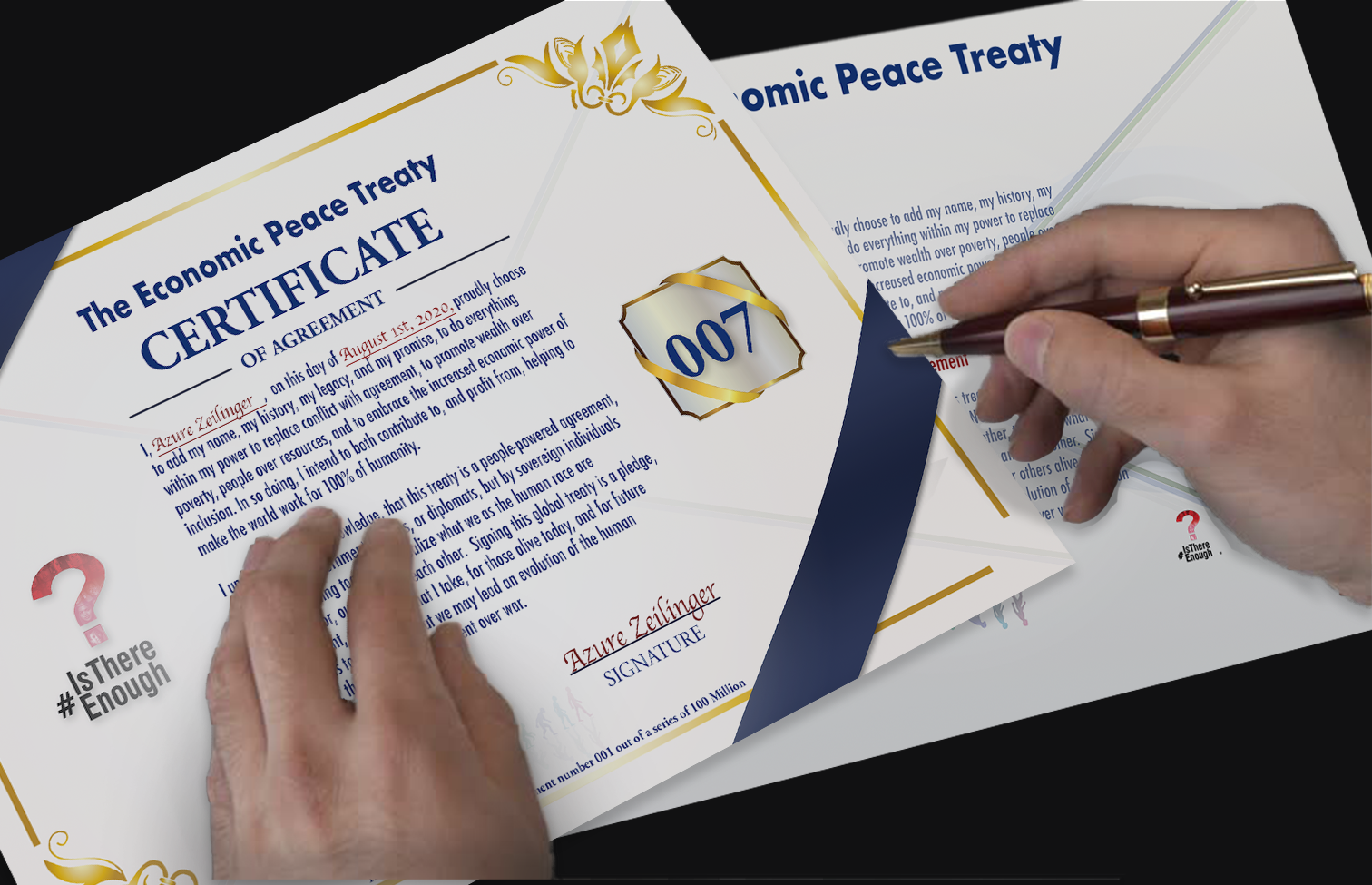 Reserve your spot to sign the treaty