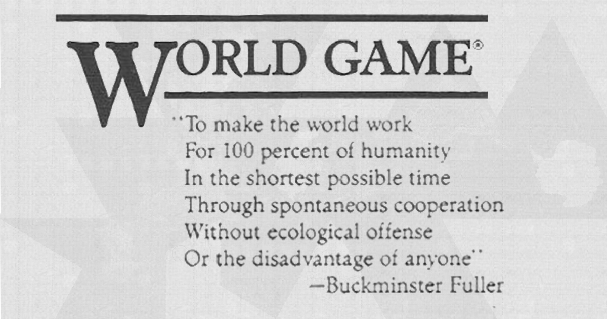 To make the world work for 100%