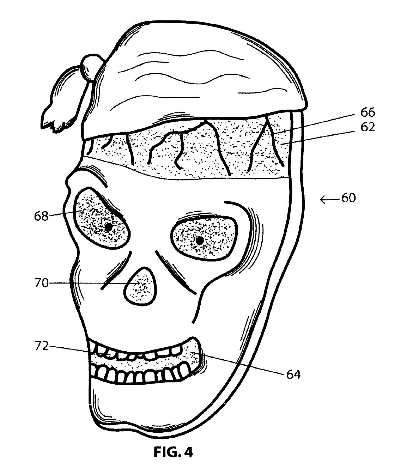 Halloween Patent auf eine Kostüm-Sicherheitsmaske