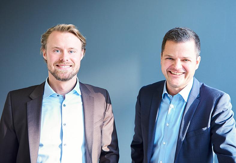 The founders of noventive: Alexander Füg and Jens Reinhard