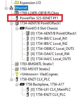 PowerFlex 525 VFD Setup - Programming Parameters Wiring Diagram RSLogix Studio 5000 EtherNet IP Address Start Stop IO Tree