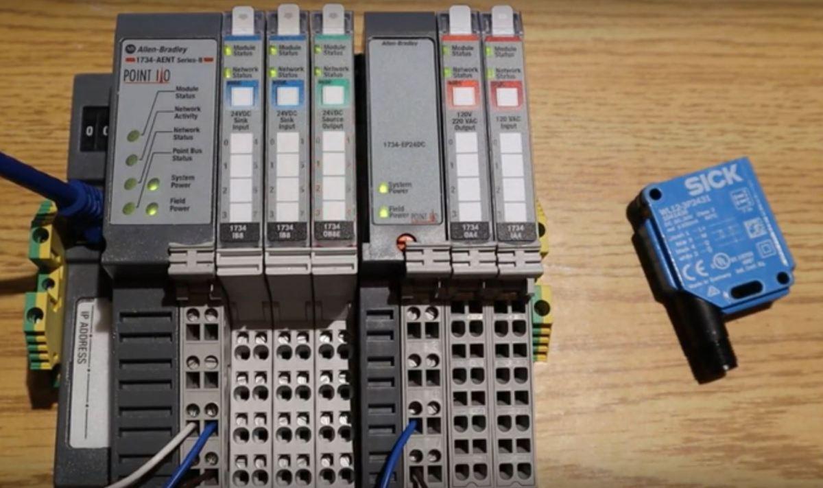 Point IO 1734 Allen Bradley - Input Sensor Hardware Installation Wiring Testing Programming Tutorial