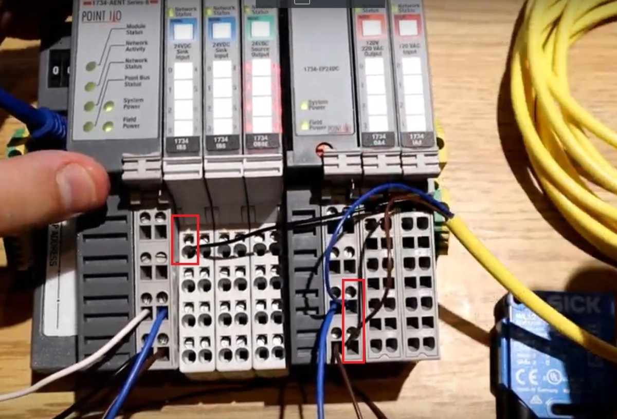 Point IO 1734 Allen Bradley - Input Sensor Hardware Installation Wiring Testing Programming Tutorial Input 1734-IB8
