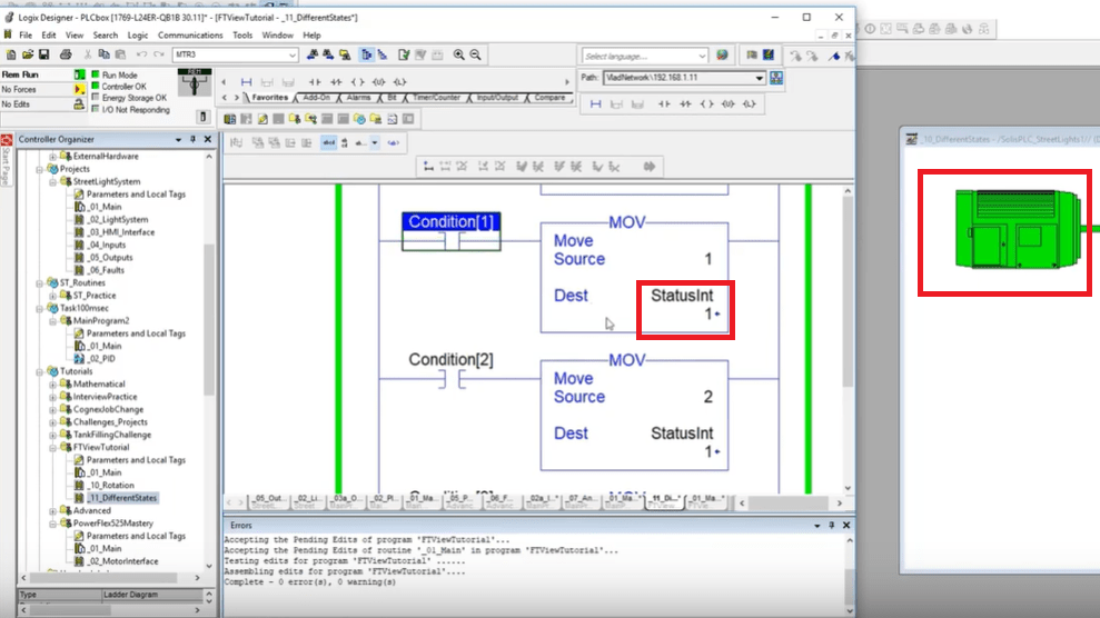 FactoryTalk View Studio ME & SE - Object Animation Through Tags Tutorial Faceplates Image Library