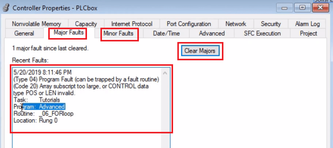 PLC Fault Finding | FOR Loop PLC Fault Diagnosis Troubleshooting in RSLogix 5000 Allen Bradley