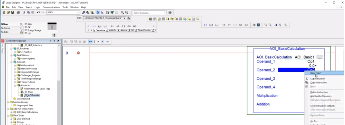 Add On Instructions Programming | AOI RSLogix / Studio 5000 PLC Programming Tutorial Example Logic Studio