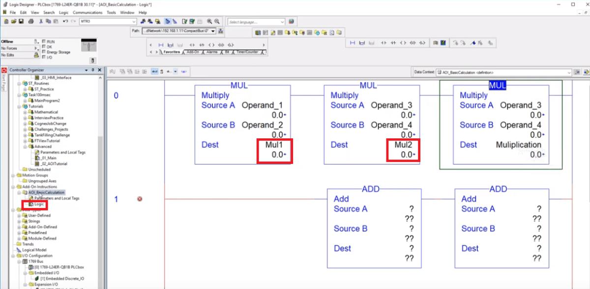 Add On Instructions Programming   AOI RSLogix / Studio 5000 PLC Programming
