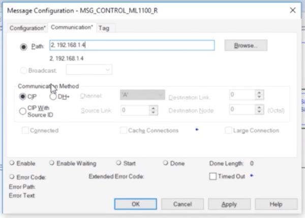 PLC Programming MSG Instruction - Send Data Between MicroLogix & CompactLogix PLCs Studio 5000