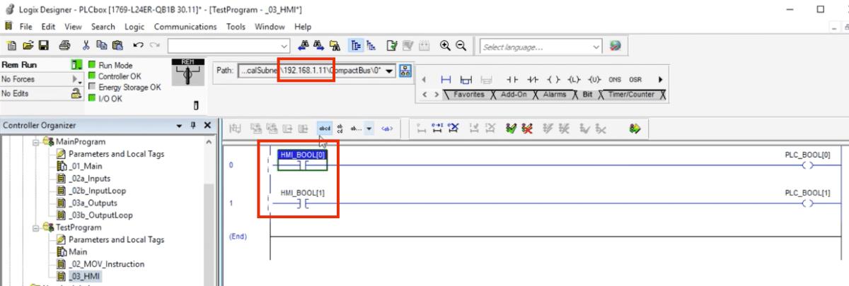 Studio 5000 PLC Tags to HMI Link Communication Tutorial