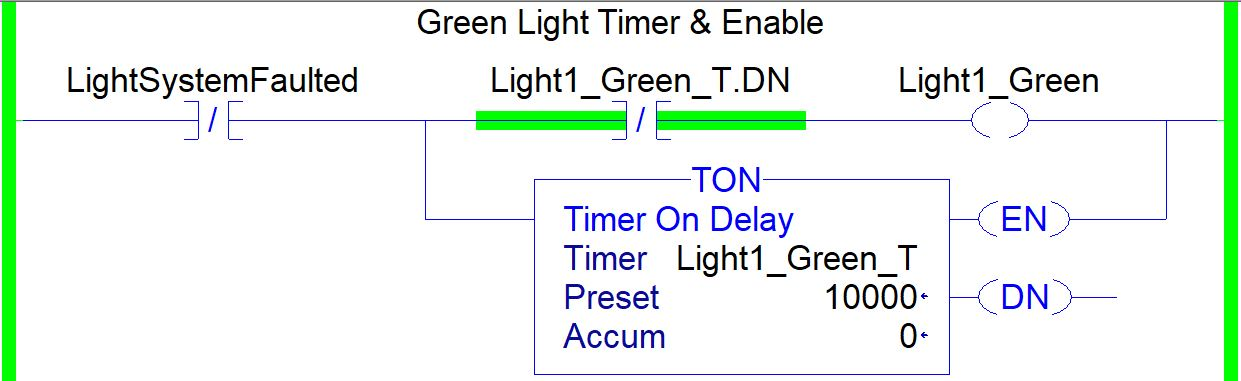 Timer TON Instruction in RSLogix 5000 Ladder Logic Example