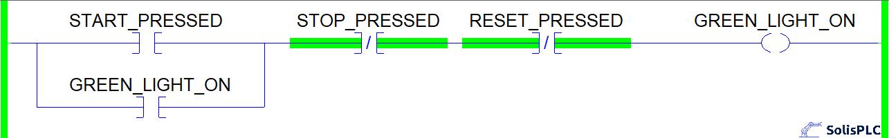 Ladder Logic Symbols - Light Seal In Logic in Studio 5000