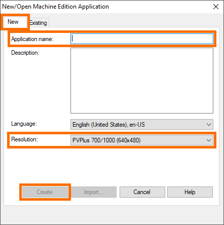 Creating a New Application in FactoryTalk View Machine Edition