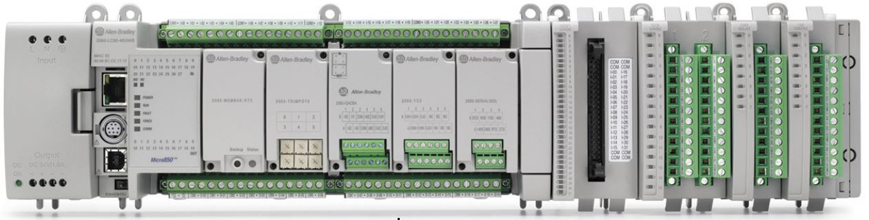 Micro850 Programmable Logic Controller with Add-On and Extension Modules