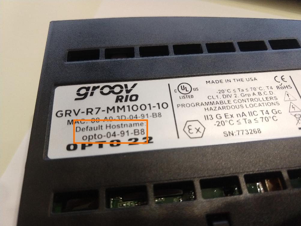 groov RIO Default Hostname