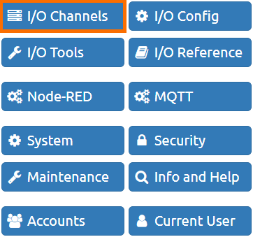 groov RIO I/O Configuration in groov Manage - I/O Channels Setting