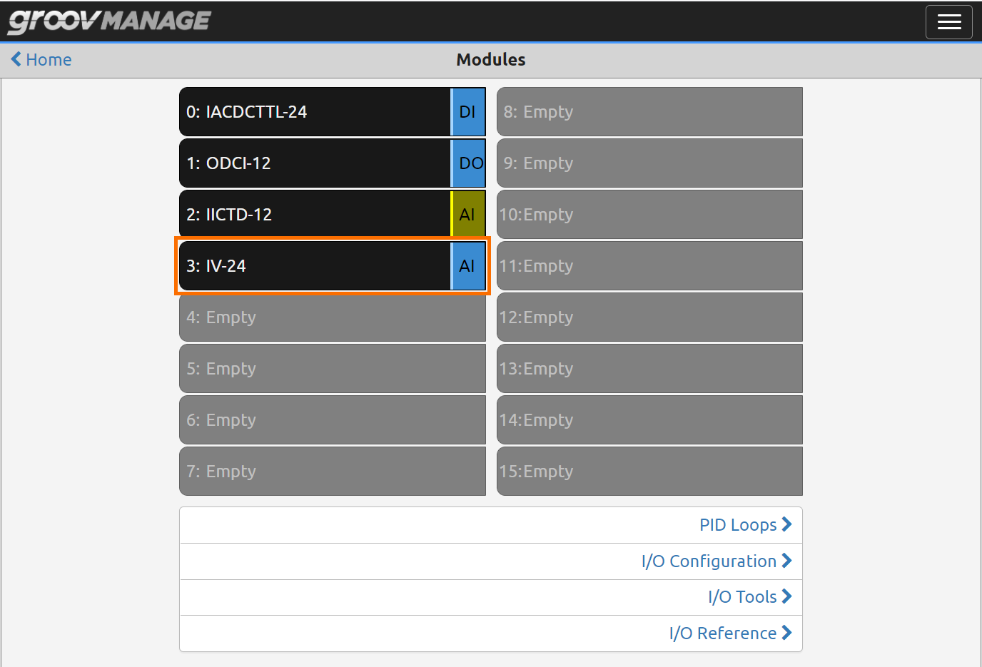 Opto 22 groov EPIC - Analog Input Configuration