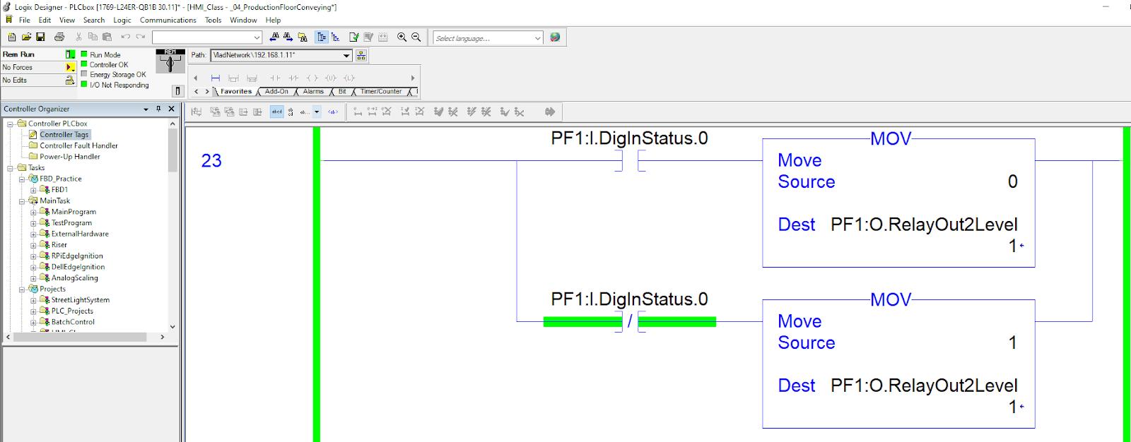 PowerFlex 525 - Studio 5000 PLCProgramming Ladder Logic