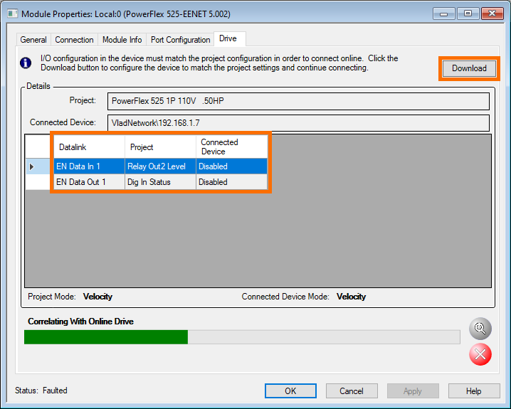 PowerFlex 525 - In/OutChanges Download