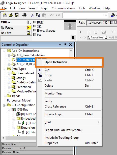 RSLogix Studio 5000 Add-On Instruction [AOI] PLCProgramming - Instruction Definition