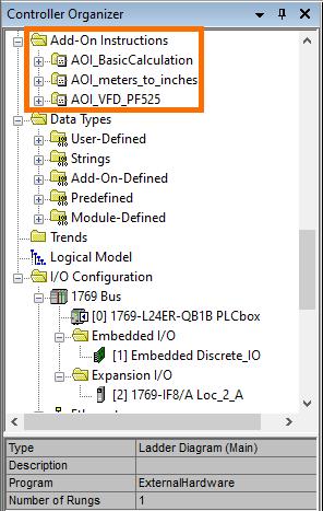 RSLogix Studio 5000 Add-On Instruction [AOI] PLCProgramming - Instructions in Program