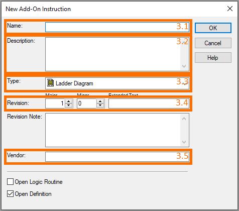 RSLogix Studio 5000 Add-On Instruction [AOI] PLCProgramming - Instruction Parameters