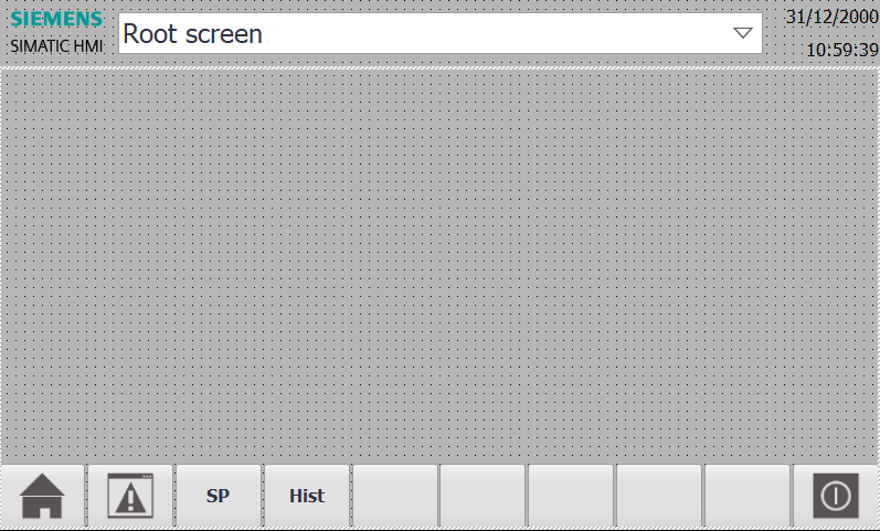 Layout of the Template screen